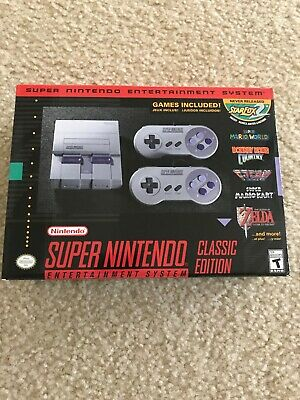 New Nintendo Super NES Classic Edition Home console - Gray With 230 Snes Games
