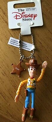 Disney Woody 3D Keyring, Disney Shop Labels Attached  New 1990's Collectable