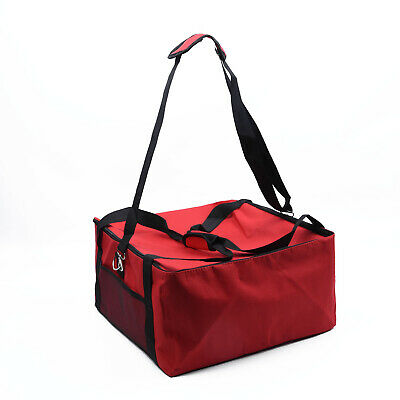 Pizza Food Storage Delivery Bag Red Thermal Insulated Holds Pizzas Carrier Bag