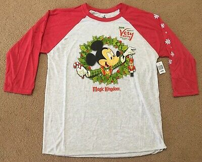 Disney Parks Mickey's Very Merry Christmas Party 2018 T-shirt Large NWT☆☆