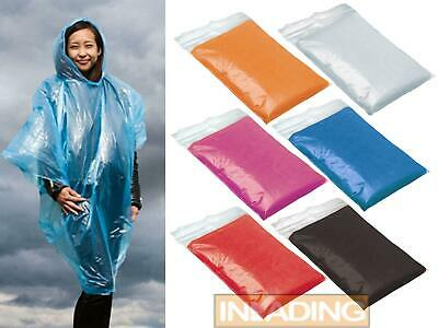 Hooded Poncho Rain Coat Reusable Festival Camping Emergency Waterproof Theme