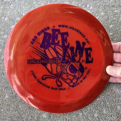 Disc Golf Driver Bee Line Distance Driver by ABC Discs Barely Used and Uncommon