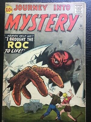 Journey Into Mystery # 71 Atlas Comic From 1961