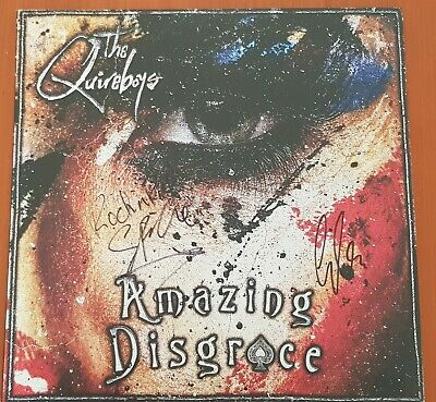 The Quireboys Amazing Disgrace Limited 300 Blue Vinyl Hand Signed J2