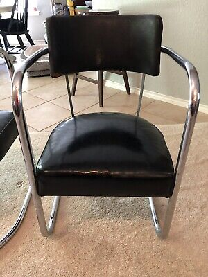 ANTIQUE  Koken BARBER SHOP WAITING CHAIRS----TWO