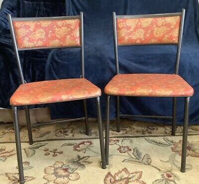 Cosco Mid Century Gatefold Folding Chairs 1950's Made in USA Set of 2 Vtg MCM