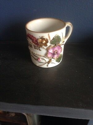 Antique porcelain German forget-me-not cup Teacup Or Expresso Coffee