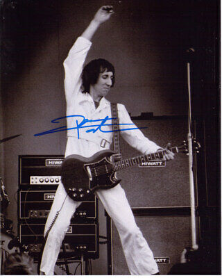 Pete Townshend The Who Guitarist Signed 8X10 Photo With Coa