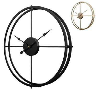 European Style Silent Wall Clock Modern Design Hanging Home Office Decor Minimal