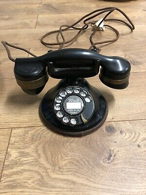 Automatic Electric Monophone Round Base Rotary Dial Telephone Chicago