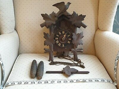 Antique Rare Carved Black Forest Cuckoo Clock, Spares or Repair, ref A17