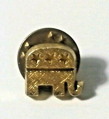RNC Elephant Republican National Committee Gold Tone Tie Tack Lapel Pin