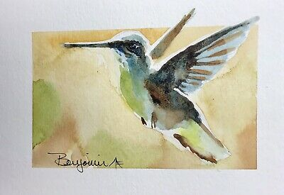 "Original Nova Scotia Watercolor Art, ""Hummer IV"", Not A print!"