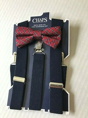 Boys Bow Tie and Suspenders