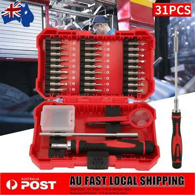 31pcs Ratchet Screwdriver Multi Bit Tool Household Screwdriver Repair Tools Set