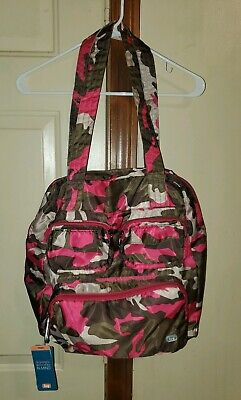 Lug Puddle Jumper Womens Overnight Carry All Bag Gym Bag Pink Camo New With Tags