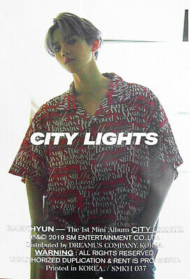 "SJmusic [BAEKHYUN] 1st Mini Album ""City Lights"" (KIHNO) Original Official Poster"