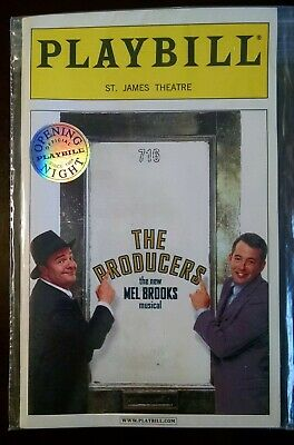 The Producers Opening Night Playbill SEALED MINT Broadway 2001 Lane Broderick