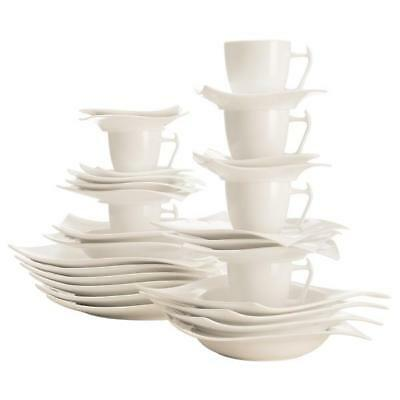 30-tlg. Coffee and Table Service Geschirrset Motion White Maxwell & Williams