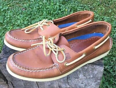 Sperry Top Sider Mens Brown Boat Shoe size 9.5