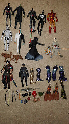 """Marvel Legends, Star Wars Black Series, and DC Collectibles 6"""" action figure lot"""