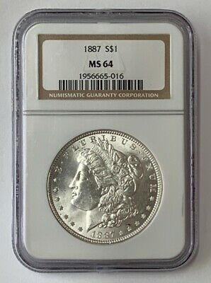 SKU #4603 1887 Morgan Dollar MS-63 PCGS