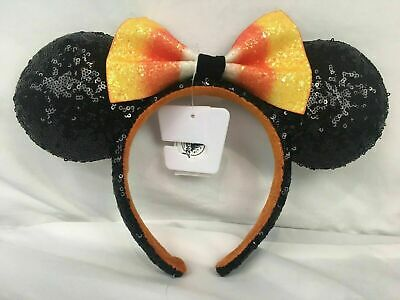 Disney Parks 2019 Halloween Candy Corn Bow Minnie Mouse Ears Ear Headband Hat