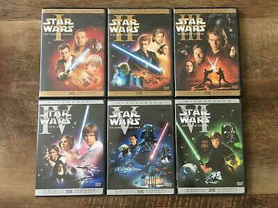 Star Wars Episode I - VI Widescreen DVDs Complete Set