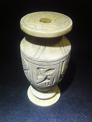 EGYPTIAN ANTIQUE ANTIQUITY Pharaoh Pharaonic Small Stone Vase 3150-2512 BC