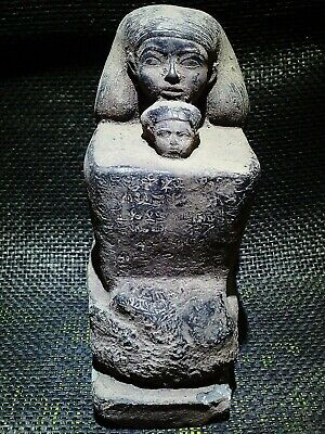 EGYPTIAN ANTIQUE ANTIQUITY Senenmut With Neferure Block Statue 1473-1458 BC