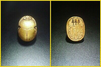 EGYPTIAN ANTIQUE ANTIQUITY Scarab Beetle Khepri Figure Sculpture 1549-1144 BC