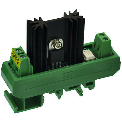 CZH-LABS DIN Rail Mount 1 Channel 8 Amp SSR Module, in 4~32VDC, out 100~240VAC.