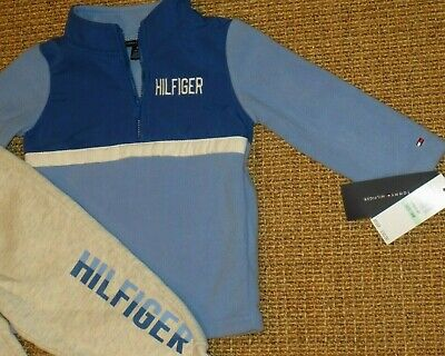 NWT  Tommy Hilfiger Baby Boy Tracksuit Outfit 18 / 24 months Fleece Jacket  New