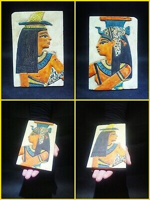 EGYPTIAN ANTIQUE ANTIQUITIES Two Different Sides Drawings Stela 1549-1298 BC