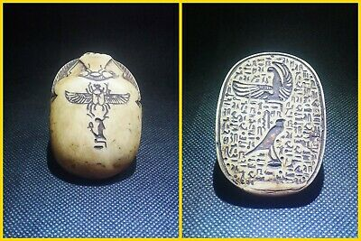 EGYPTIAN ANTIQUE ANTIQUITIES Scarab Beetle Khepri Figure Sculpture 1549-1165 BC