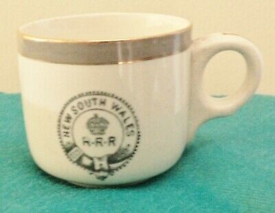 New South Wales Government Railways Refreshment Room Rrr  Coffee Cup Demitasse