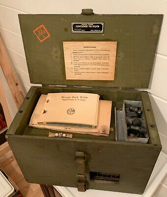 Vintage Original WWII PG-102/CB Carrier Pigeon Signal Corps Cage w/ Contents