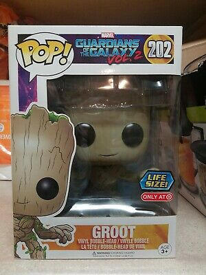 Funko POP! Retired Marvel Guardians of the Galaxy Vol. 2 Life Size 10 Inch Groot