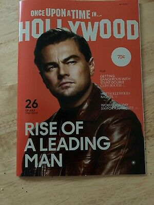Once Upon A Time In Hollywood Tarantino Pitt DiCaprio Film Promo Magazine