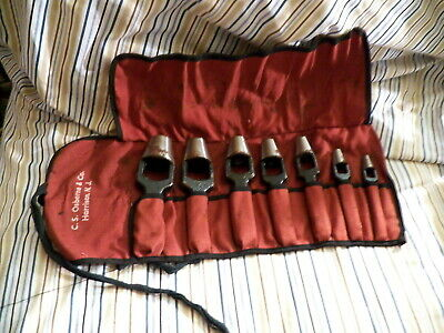 7PC ASSORTED SIZE SET C.S. OSBORNE LEATHER HOLE PUNCH'S IN POUCH 230.00 retail