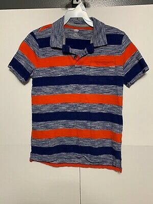 Old Navy Boys Size Large 10/12 Striped Polo Style Short Sleeve Shirt Q3