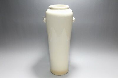 ad610 Old Antique Chinese Dehua White Porcelain Vase Hakuji Kabin Qing Dynasty