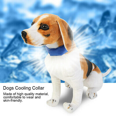 Removable Pet Puppy Dog Cat Summer Collar for Cooling Neck Gel Collar Blue M
