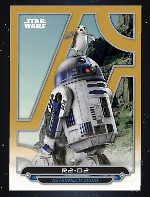 Topps Star Wars Card Trader R2 D2 Digital Galactic Files Gold 25cc Card