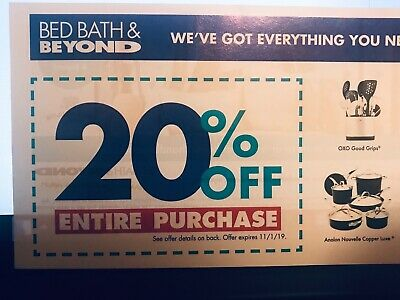 Bed Bath & Beyond 20% Off Entire Purchase