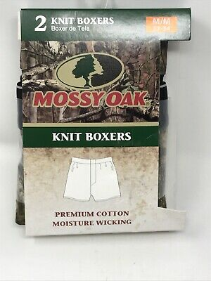 Mossy Oak Men's 2 Pack Knit Boxers Mens Underwear M/M 32-34