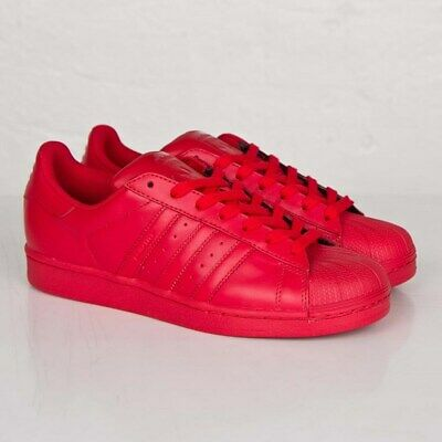 ADIDAS SUPERSTAR X Equality Pharrell Williams Red leather