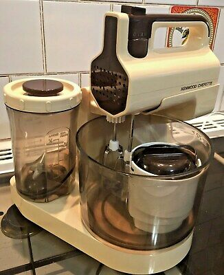Kenwood Chefette in Cream & Brown, Mixer, Blender & Grinder - Lovely Condition