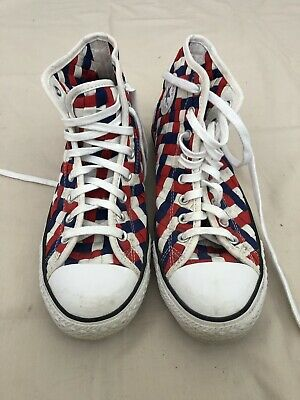 Unisex Converse All Stars Chuck Taylor Causal Chequered Shoes Size M 11 F13