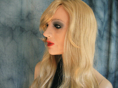 Latex Mask MARILYN +LASHES +WIG  Female Rubber Face Trans Girl Mask no silicone